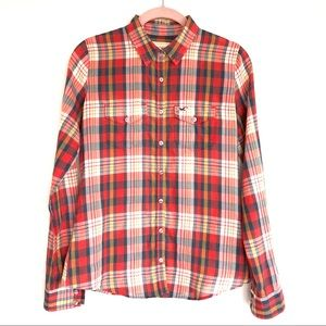 Hollister Women's Button Down Plaid Shirt